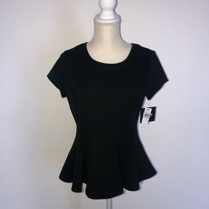 By & by black short sleeve top